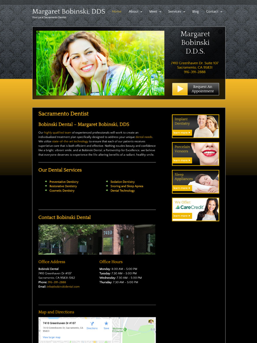Bobinski Dental Website