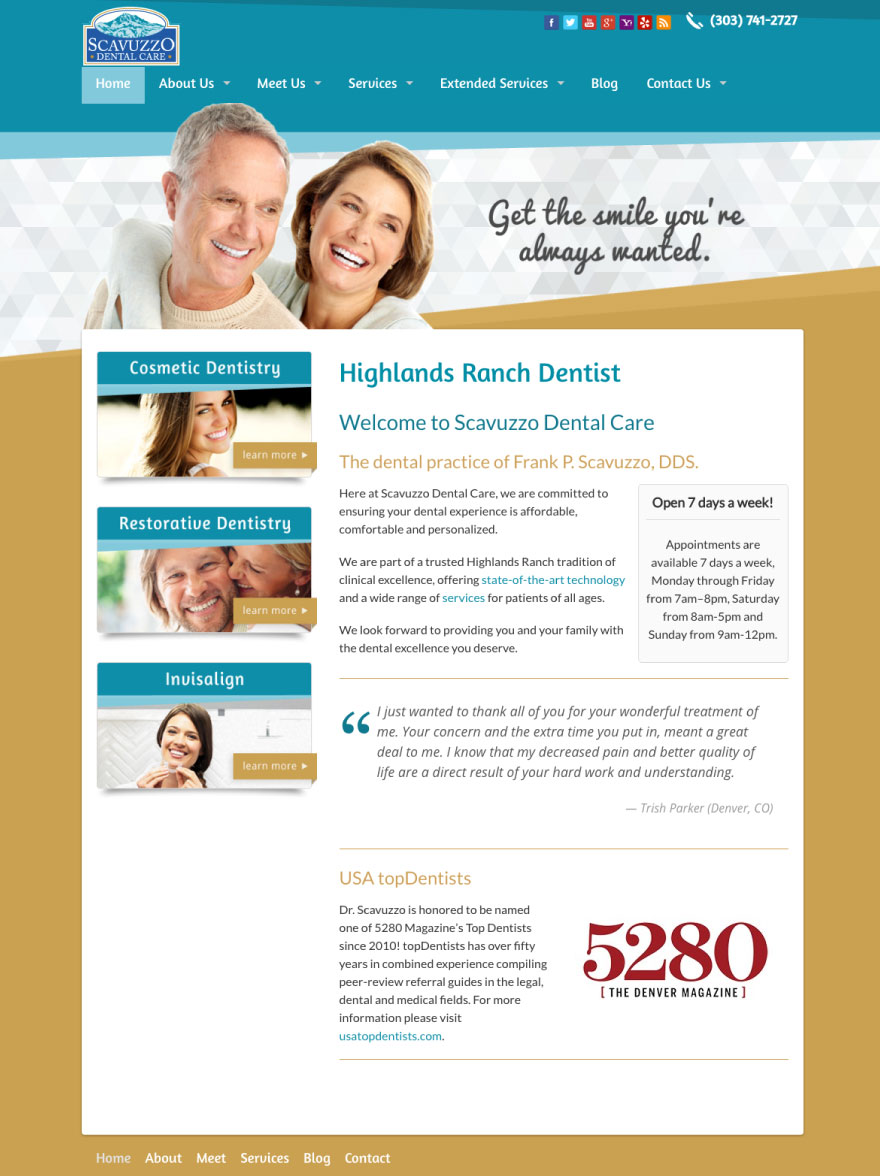 Scavuzzo Dental Care Website